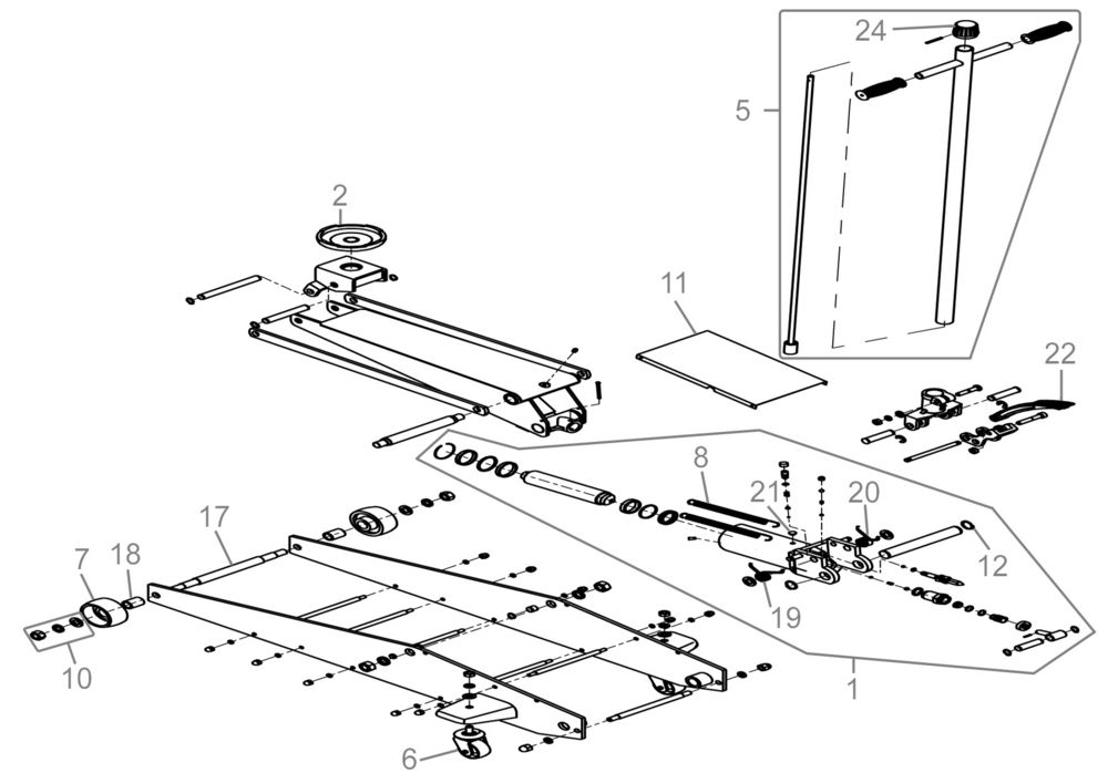 Ersatzteile Von Gude Werkstattausrustungen Rangierwagenheber Grh 2 80