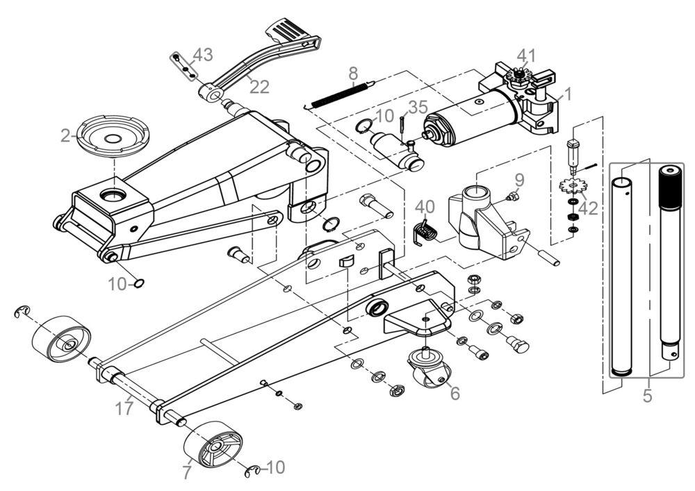 Ersatzteile Von Gude Werkstattausrustungen Rangierwagenheber Grh 3 50