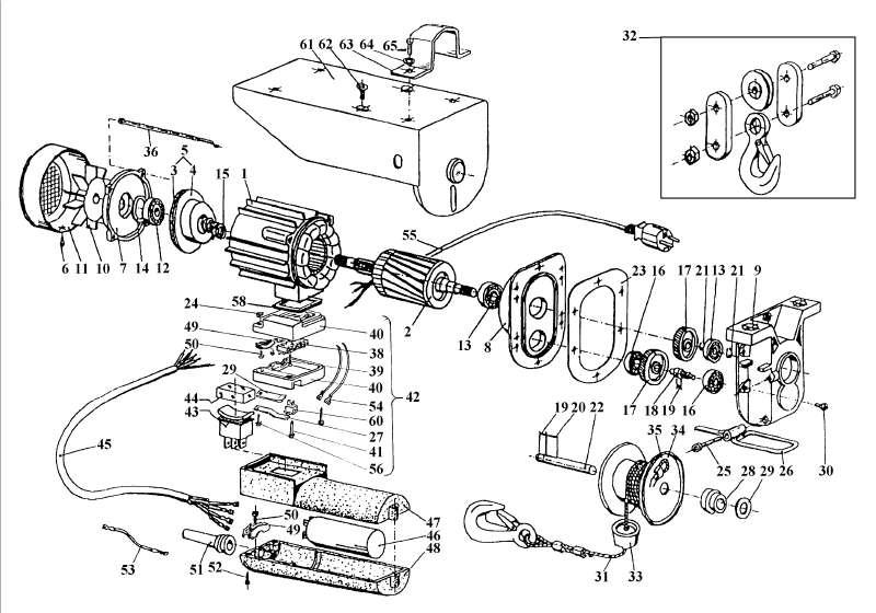 Ersatzteil Anleitung SHZ 300 91024 für Seilhebezug Einhell SHZ 300 ...