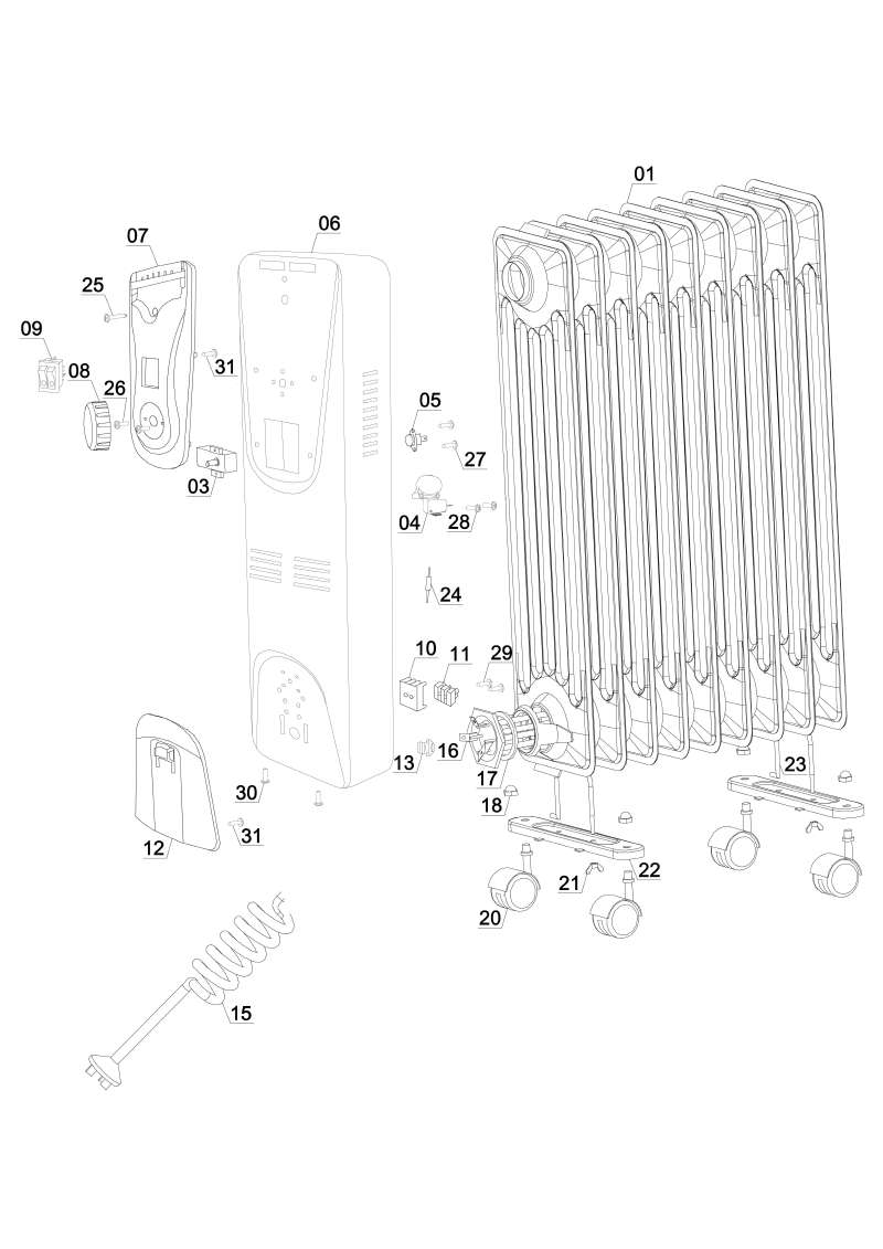 3.5cm//1.5in Large White loom élastique