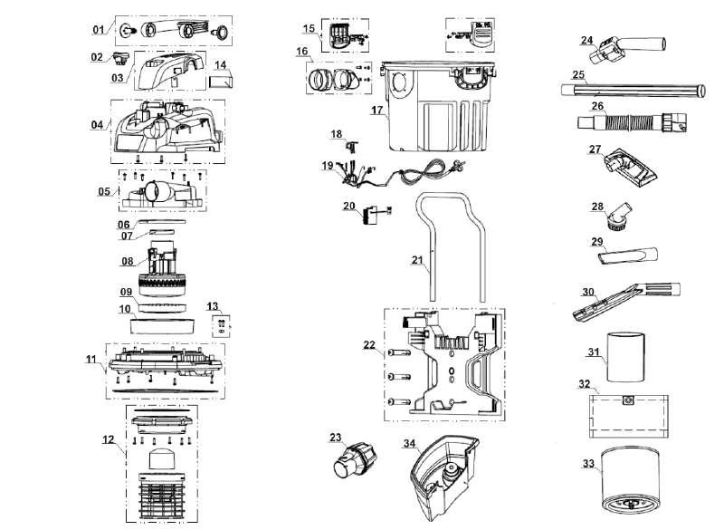 ersatzteil griffrohr mit fernbedienung f r nass trockensauger vacmaster vwm1218r zgonc aus. Black Bedroom Furniture Sets. Home Design Ideas