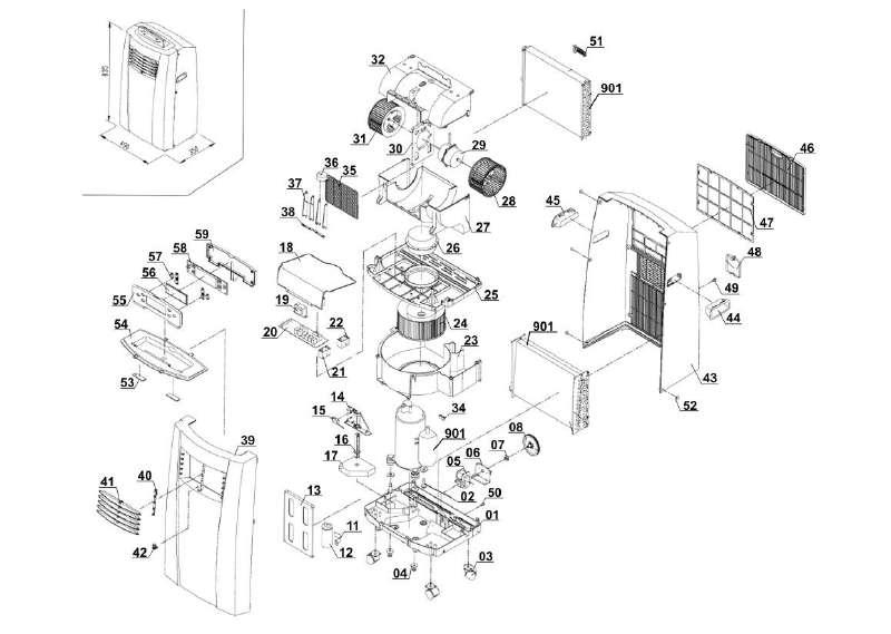 ersatzteile der kategorie ersatzteile zeichnungen proklima klimager t. Black Bedroom Furniture Sets. Home Design Ideas