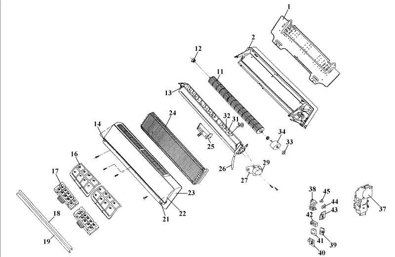 ersatzteil halterung led f r split klimaanlage einhell. Black Bedroom Furniture Sets. Home Design Ideas