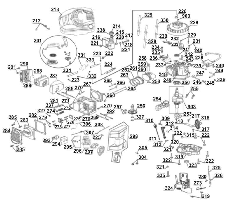 8904 2,38PS Zündspule aus Rasenmäher Einhell BG-PM 40 1,75KW