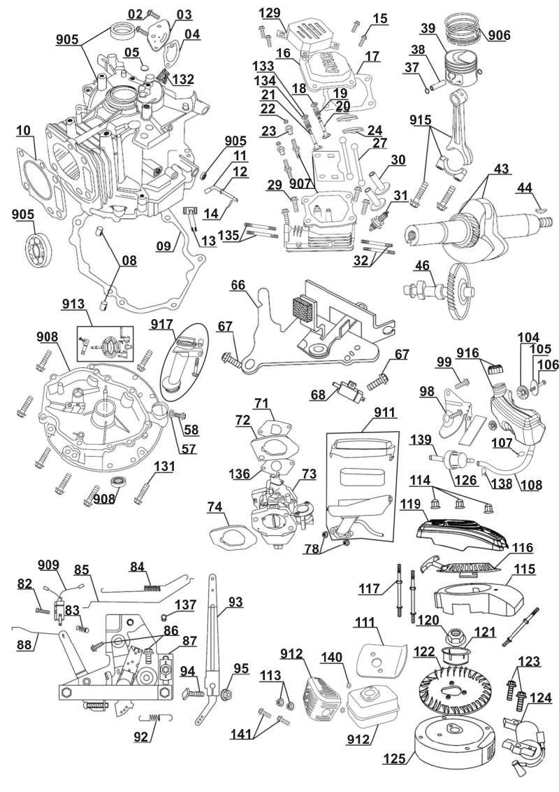 ersatzteil vergaser für motor von florabest rasenmäher l 446 s (lb 1