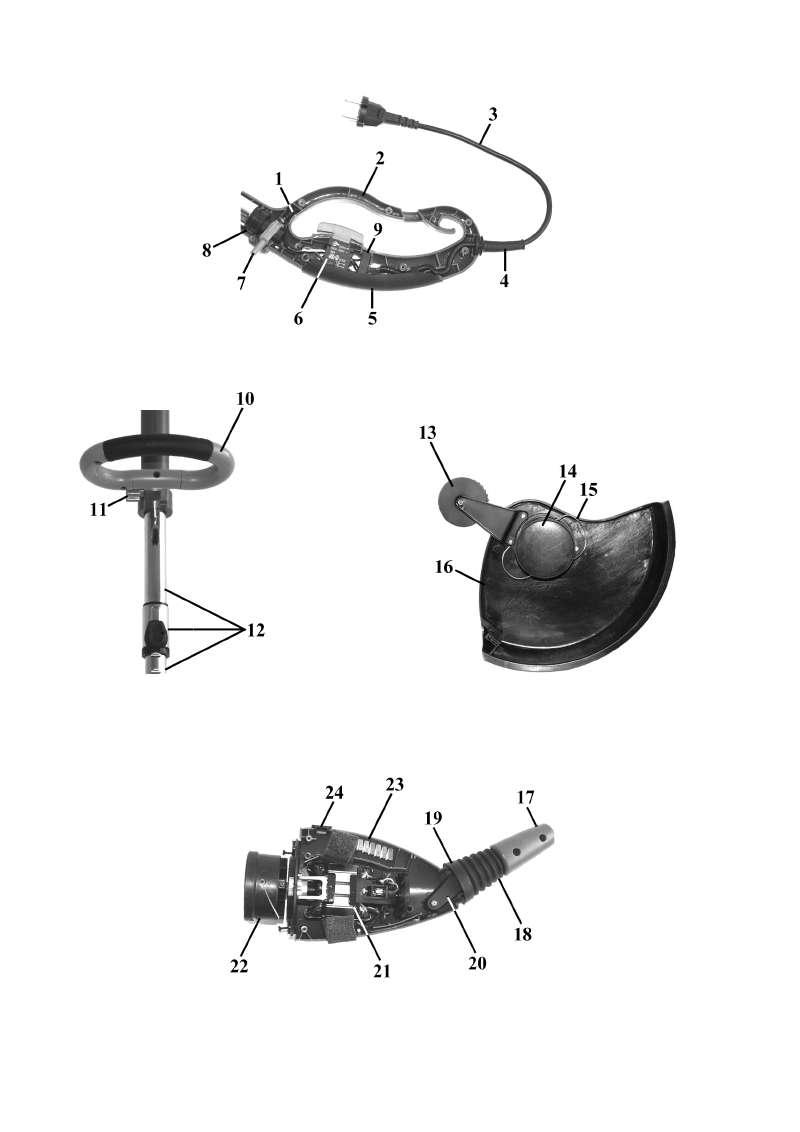 ersatzteil anleitung f r elektro rasentrimmer top craft. Black Bedroom Furniture Sets. Home Design Ideas