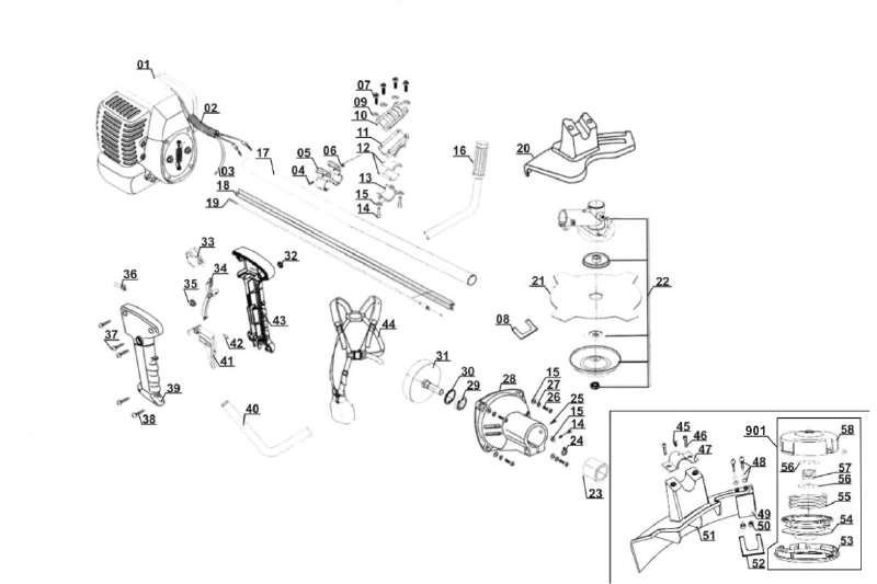 ersatzteil haken f r benzin sense einhell n bg bc 41. Black Bedroom Furniture Sets. Home Design Ideas