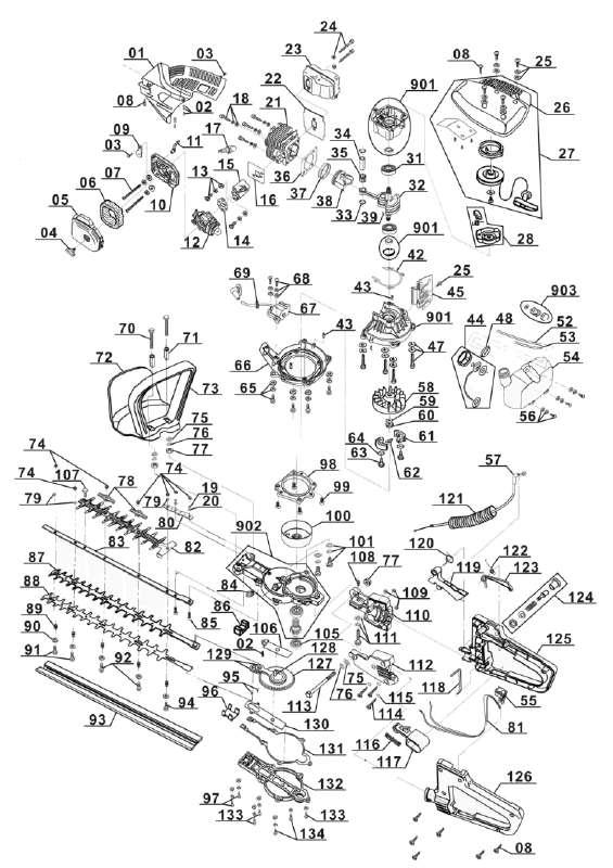 ersatzteil messer oben f r benzin heckenschere gardenline glbhs 26 zeichnungsnr 087 39 95. Black Bedroom Furniture Sets. Home Design Ideas