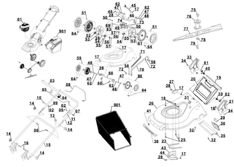 Seilzugstarter passend für Rasenmäher Einhell GC-PM 46//1 S