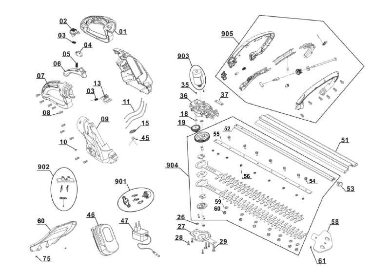 ersatzteil ladeger t f r akku heckenschere gardenline glah 18 4 zeichnungsnr 047 35 44. Black Bedroom Furniture Sets. Home Design Ideas
