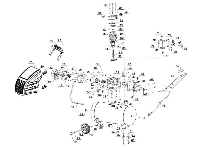 ersatzteile von einhell blue aus der zeichnung kompressor. Black Bedroom Furniture Sets. Home Design Ideas
