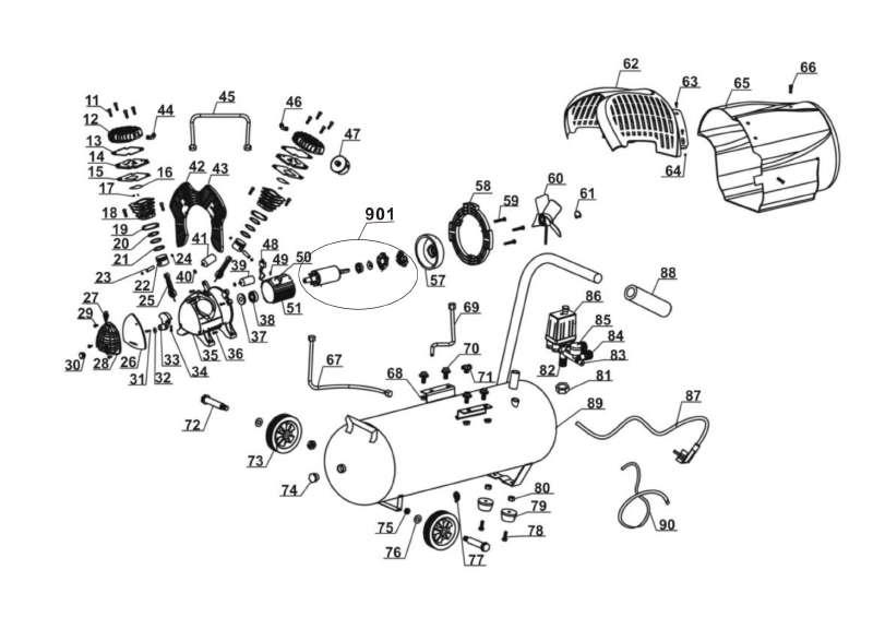 workzone kompressor ersatzteile industriewerkzeuge ausr stung. Black Bedroom Furniture Sets. Home Design Ideas