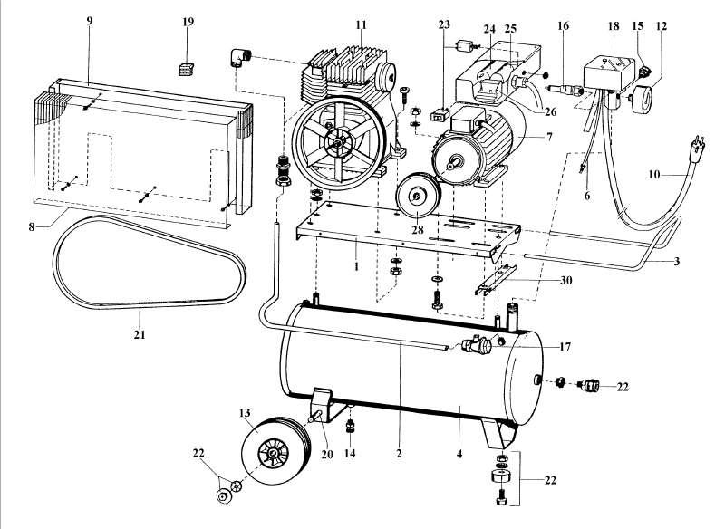 Ersatzteil Anleitung 301/401 für Kompressor Einhell Airtech 401/50 D ...