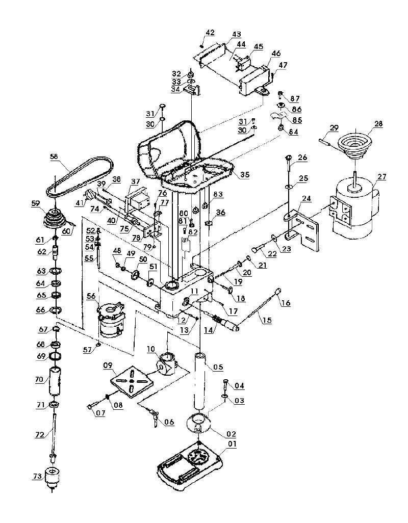 ersatzteil spindel f r s ulenbohrmaschine einhell blue bt. Black Bedroom Furniture Sets. Home Design Ideas