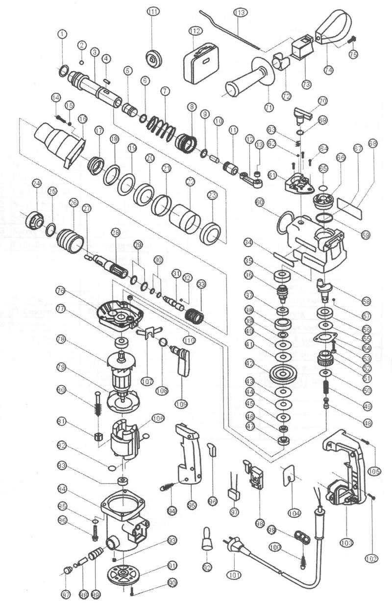 ersatzteil kohlebürsten bbh 626-1 für bavaria bohrhammer einhell bbh