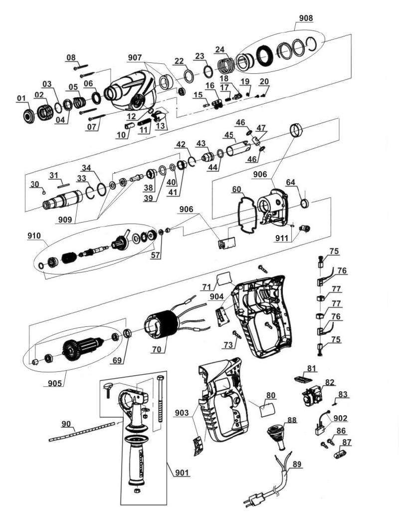 ersatzteil kohleb rste paar f r bohrhammer lux tools bh 24 aus dieser zeichnung 12 95. Black Bedroom Furniture Sets. Home Design Ideas