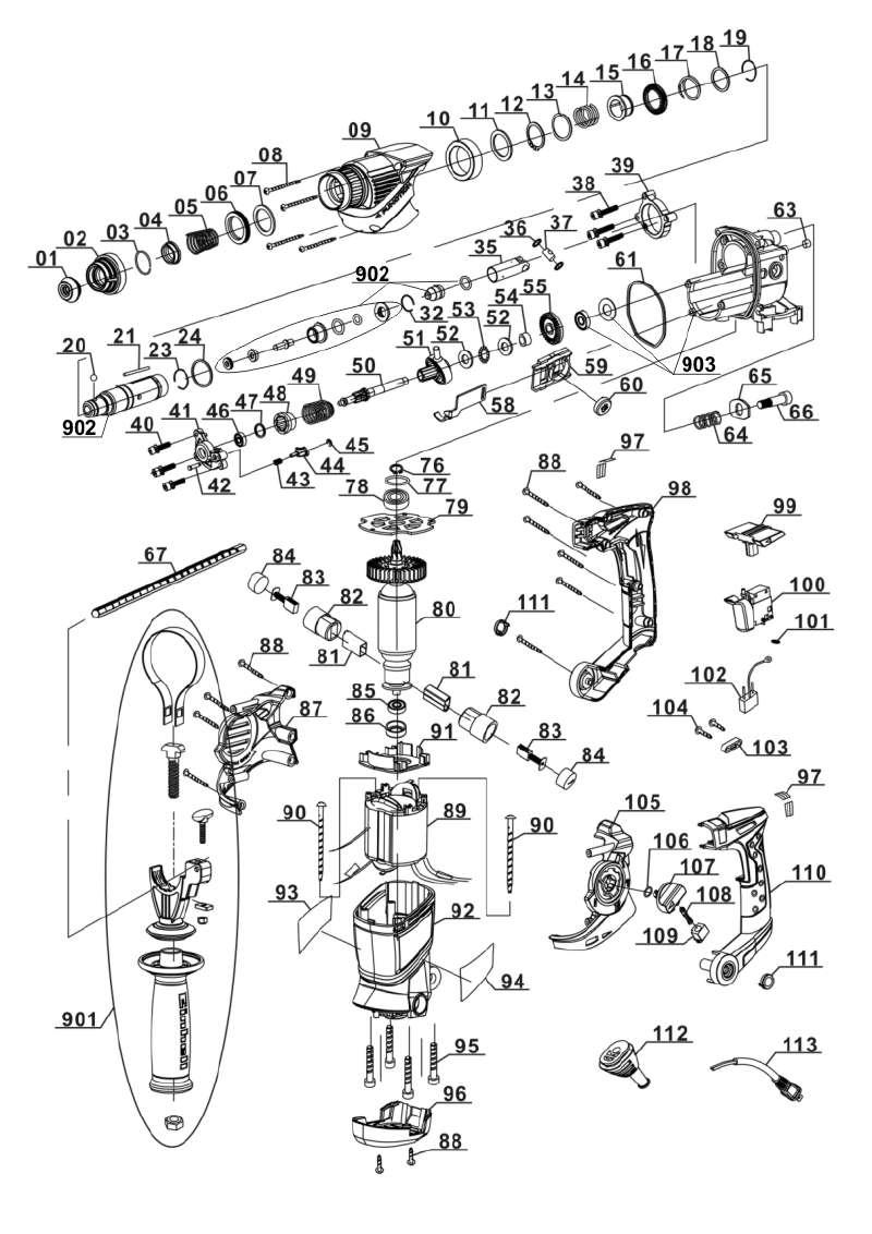 ersatzteil aufbewahrungskoffer f r bohrhammer einhell expert rt rh aus dieser zeichnung 32 62. Black Bedroom Furniture Sets. Home Design Ideas