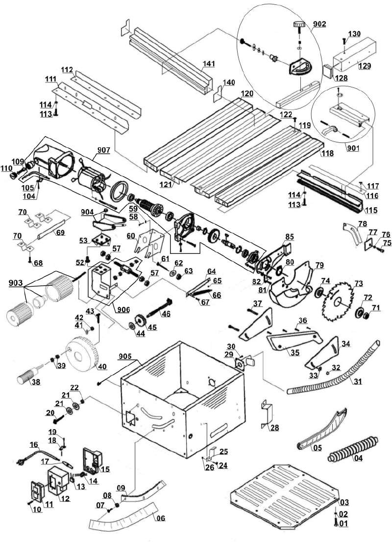 Ersatzteil Motor komplett für Tischkreissäge Parkside TKS 1700 (LB 2 ...