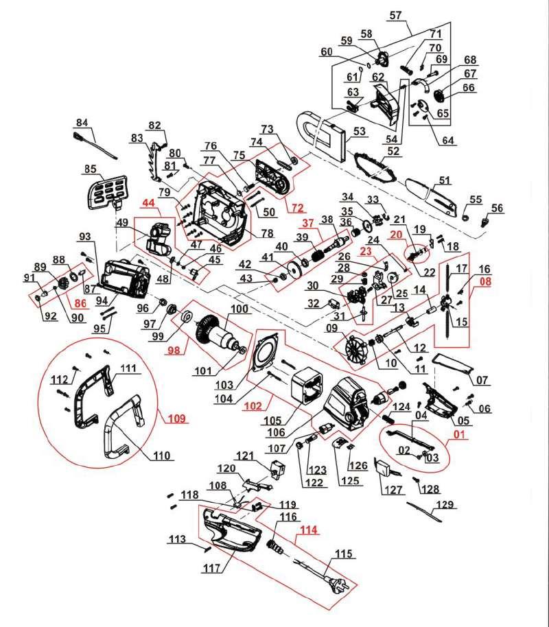 ersatzteil ritzel f r elektro kettens ge mac allister mac. Black Bedroom Furniture Sets. Home Design Ideas