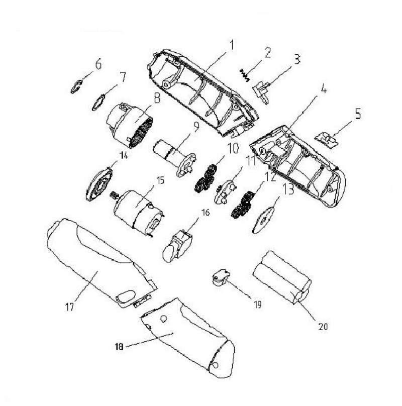 ersatzteil ladeger t f r akkuschrauber bavaria bsd 3 aus dieser zeichnung 17 95. Black Bedroom Furniture Sets. Home Design Ideas