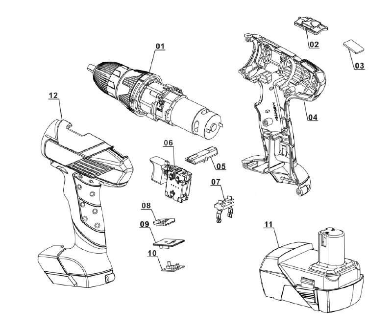 ersatzteile von lux tools aus der zeichnung akku bohrschrauber abs 18. Black Bedroom Furniture Sets. Home Design Ideas