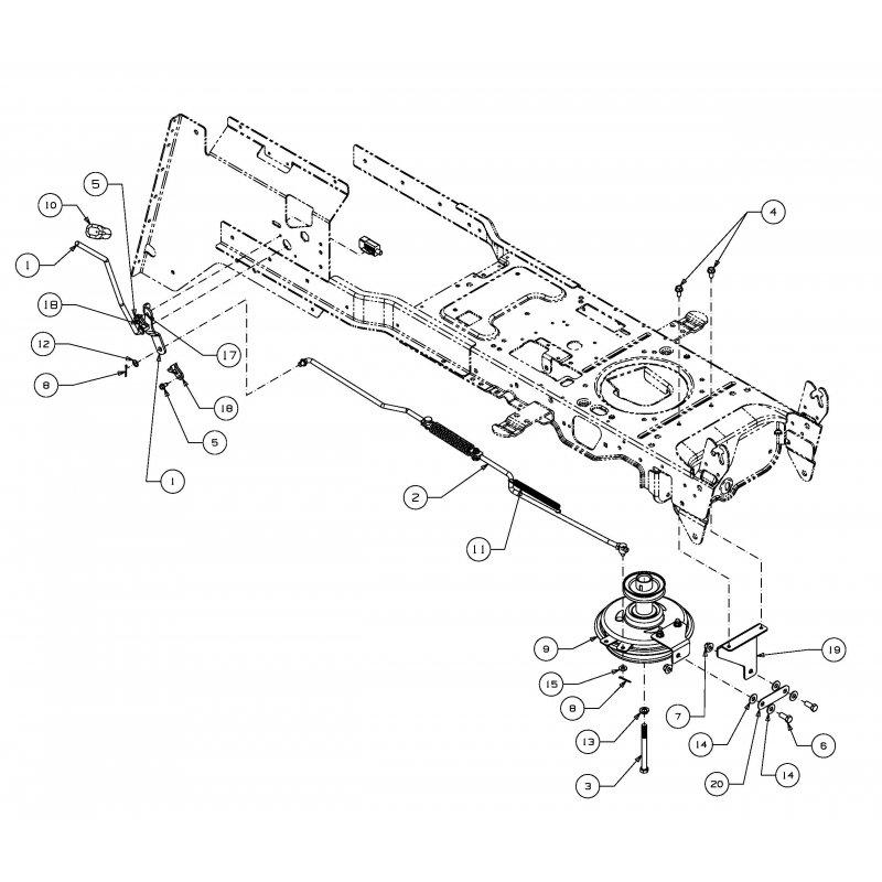 mechanische messerkupplung f r oleo mac krosser 92 16 h. Black Bedroom Furniture Sets. Home Design Ideas